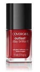 CoverGirl Outlast Stay Brilliant Nail Gloss - 180 Red Revenge