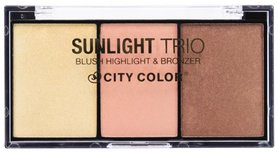 City Color Sunlight Trio Collection 1: Blush, Highlight & Bronzer