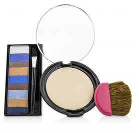 Physicians Formula 2pc Make Up Kit - Shimmer Strips Eyeshadow and CoverTox Ten Wrinkle Face Powder - 8658 Casual Eyes
