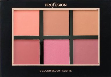 Profusion Studio Blush Palette - 6 Color Blush