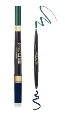 Black Radiance Urban Identity Dual Eye Definer - Matte Shadow & Metallic Liner - CA9003 Navy/Sky Blue