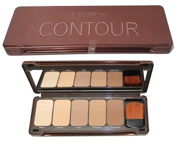 Beauty Creations More Contour Face Palette - 5 Shades + Brush  - CT01