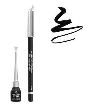 Profusion Colour Spell - Kohl & Liquid Black Eyeliner Set - 800ASET Black