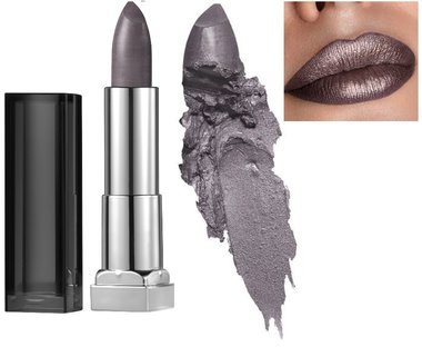 Maybelline Color Sensational Matte Metallic Lipstick - 978 Smoked Silver