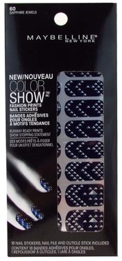 Maybelline Color Show Fashion Prints Nail Stickers - 60 Sapphire Jewels