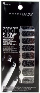 Maybelline Color Show Fashion Prints Nail Stickers - 50 Cheetah Chic