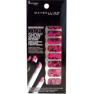 Maybelline Color Show Fashion Prints Nail Stickers - 10 Fierce N Fuchsia