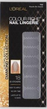Loreal Colour Riche Diamond Collection Nail Stickers - 702 Razzle Be Dazzle