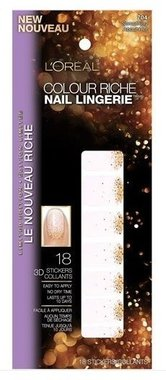 Loreal Colour Riche Diamond Collection Nail Stickers - 704 Something About Her
