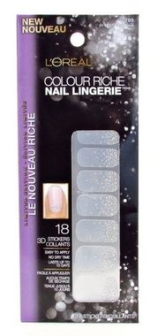 Loreal Colour Riche Diamond Collection Nail Stickers - 705 In With The New