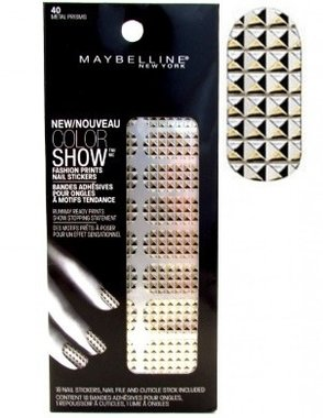 Maybelline Color Show Fashion Prints Nail Stickers - 40 Metal Prisms