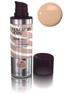 Covergirl Plus Olay Tone Rehab 2-In-1 Foundation - 150 Creamy Beige