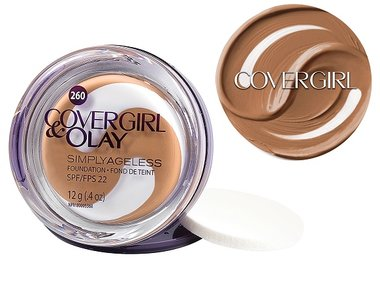 Covergirl Plus Olay Simply Ageless Instant Wrinkle Defying Foundation SPF 28 - 260 Classic Tan