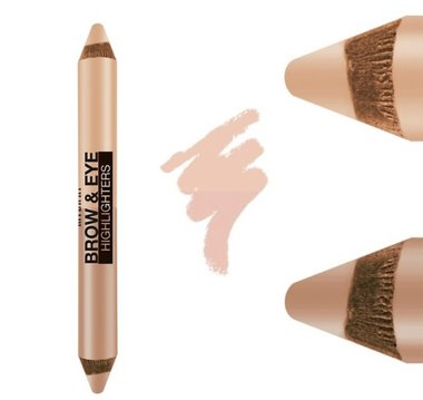 Milani Brow & Eye Highlighter - 02 Matte Cream/Luminous Lift