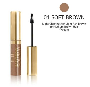 Milani Easy Brow Tinted Fiber Gel - 01 Soft Brown