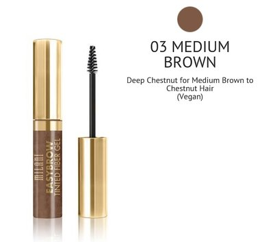 Milani Easy Brow Tinted Fiber Gel - 03 Medium Brown