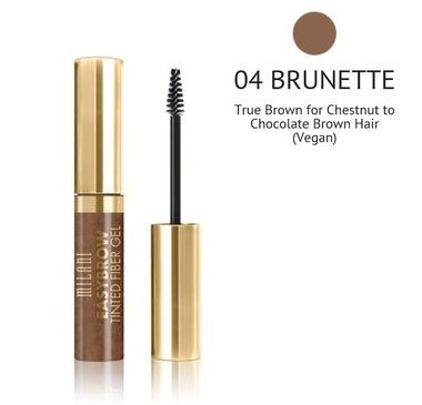 Milani Easy Brow Tinted Fiber Gel - 04 Brunette