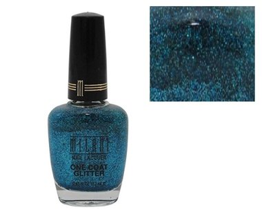 Milani One Coat Glitter Nail Lacquer - 523 Blue Flash