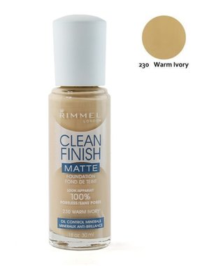 Rimmel London Clean Finish Matte Foundation - 230 Warm Ivory