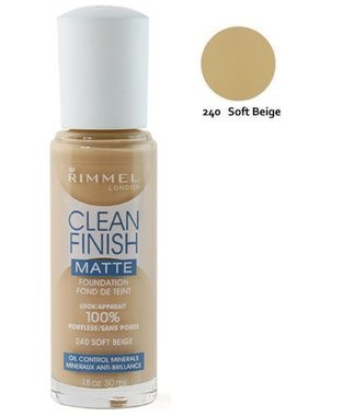 Rimmel London Clean Finish Matte Foundation - 240 Soft Beige