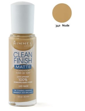 Rimmel London Clean Finish Matte Foundation - 340 Nude