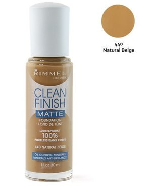 Rimmel London Clean Finish Matte Foundation - 440 Natural Beige