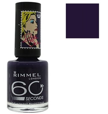 Rimmel London 60 Seconds Nail Polish Rita Ora Collection - 613 Midnight Rendezvous