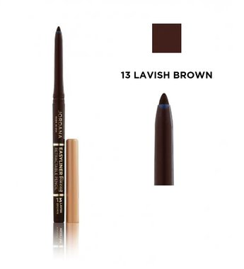 Jordana Easyliner For Eyes Retractable Eye Pencil - 13 Lavish Brown