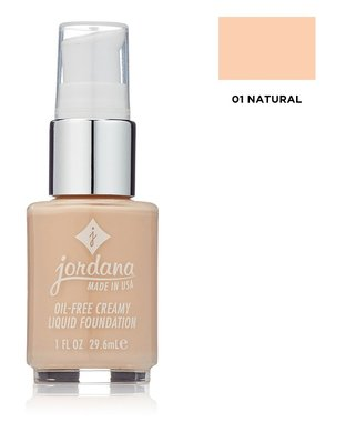 Jordana Oil-Free Creamy Liquid Foundation with Pump - 01 Natural