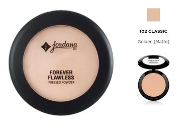 Jordana Forever Flawless Pressed Powder - 102 Classic Natural