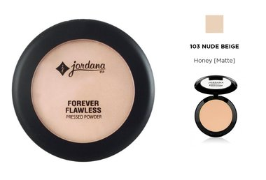 Jordana Forever Flawless Pressed Powder - 103 Nude Beige