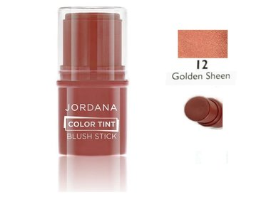 Jordana Color Tint Blush Stick - 12 Golden Sheen