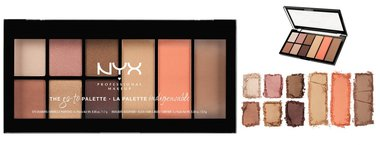NYX The Go-To Palette Eyeshadows, Blush, Highlight And Contour Palette - GTP01 - Wanderlust