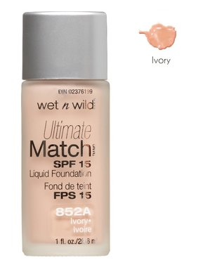 Wet 'n Wild Ultimate Match SPF 15 Liquid Foundation - 852A Ivory