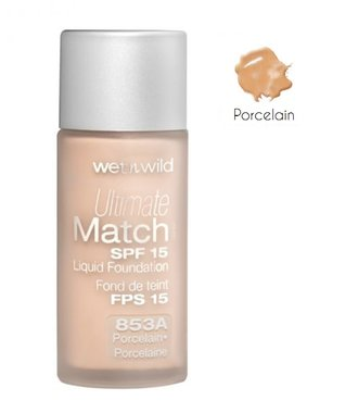 Wet 'n Wild Ultimate Match SPF 15 Liquid Foundation - 853A Porcelain