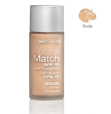 Wet 'n Wild Ultimate Match SPF 15 Liquid Foundation - 854A Nude