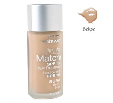 Wet 'n Wild Ultimate Match SPF 15 Liquid Foundation - 855A Beige