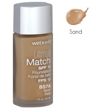 Wet 'n Wild Ultimate Match SPF 15 Liquid Foundation - 857A Sand