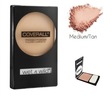 Wet 'n Wild CoverAll Pressed Powder - 826B Medium/Tan