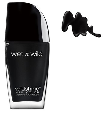 Wet 'n Wild Wild Shine Nail Color - 485D Black Créme