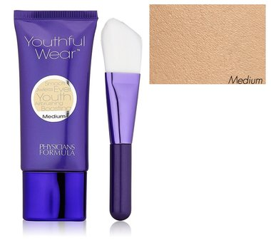 Physicians Formula Youthful Wear Cosmeceutical Youth-Boosting Foundation & Brush - 7558 Medium