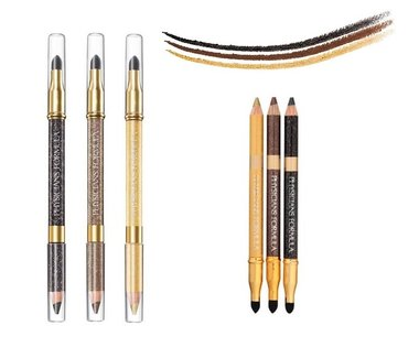 Physicians Formula Shimmer Strips Custom Eye Enhancing Eyeliner Pencil + Smudger Trio - 6636 Glam Nude