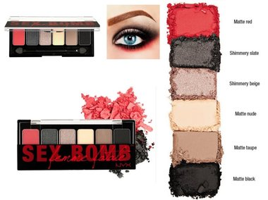 NYX Professional Makeup The Sex Bomb Femme Fatale Shadow Palette - TSB01 - 6 Shadow Palette