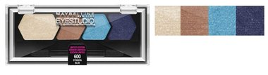 Maybelline Eyestudio Color Plush Silk Eyeshadow Quad Palette - 600 Striking Blue