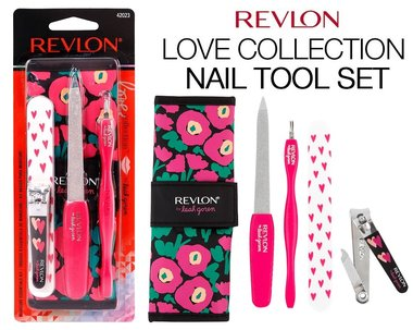 Revlon Manicure Essentials Kit - Love Collection By Leah Goren - 42023 Nail Tool Gift Set