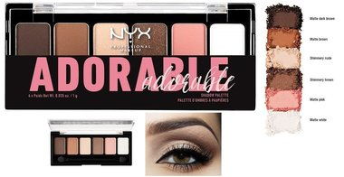 NYX Professional Makeup The Adorable Shadow Palette - TAS01 - 6 Shadow Palette