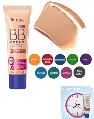 Rimmel London 9-in-1 BB Cream Long Lasting SPF 15 - Light Medium