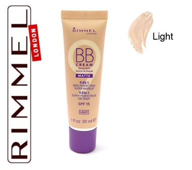 Rimmel London 9-in-1 BB Cream Matte Skin Perfecting Super Makeup SPF 15 - Light