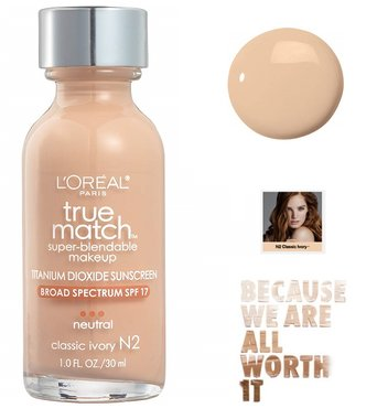 L'Oréal Paris True Match Super Blendable Makeup Foundation - N2 Classic Ivory