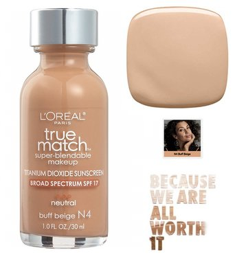 L'Oréal Paris True Match Super Blendable Makeup Foundation - N4 Buff Beige